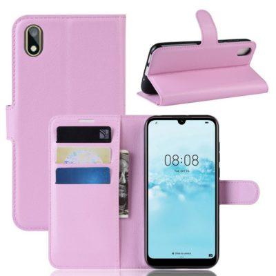 Huawei Y5 (2019) Suojakotelo PU-Nahka Vaaleanpunainen