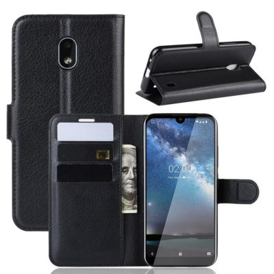 Nokia 2.2 Suojakotelo PU-Nahka Musta