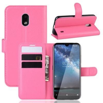 Nokia 2.2 Suojakotelo PU-Nahka Pinkki
