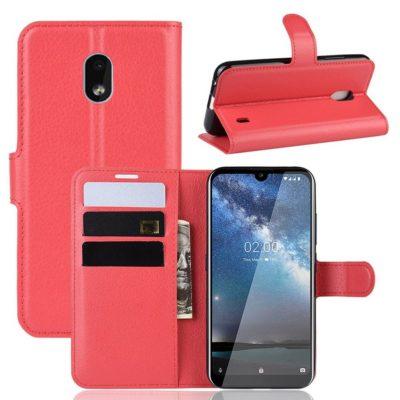 Nokia 2.2 Suojakotelo PU-Nahka Punainen