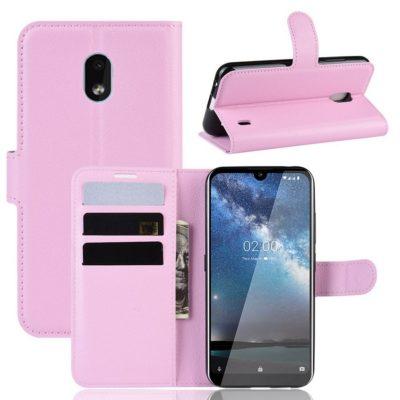 Nokia 2.2 Suojakotelo PU-Nahka Vaaleanpunainen