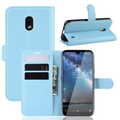 Nokia 2.2 Suojakotelo PU-Nahka Vaaleansininen