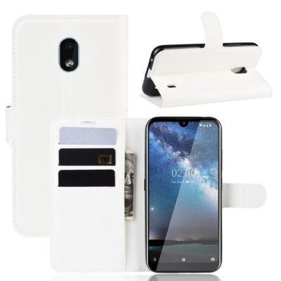 Nokia 2.2 Suojakotelo PU-Nahka Valkoinen