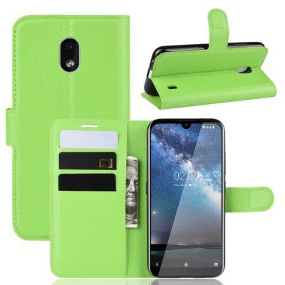Nokia 2.2 Suojakotelo PU-Nahka Vihreä