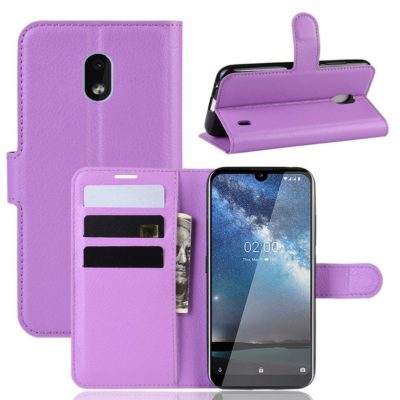 Nokia 2.2 Suojakotelo PU-Nahka Violetti