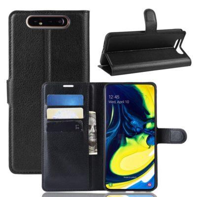 Samsung Galaxy A80 Suojakotelo PU-Nahka Musta
