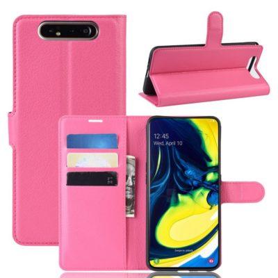 Samsung Galaxy A80 Suojakotelo PU-Nahka Pinkki