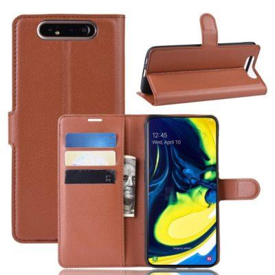Samsung Galaxy A80 Suojakotelo PU-Nahka Ruskea
