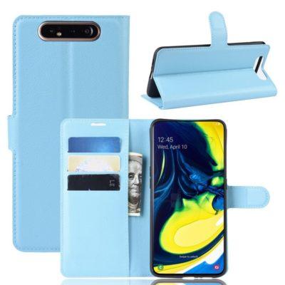 Samsung Galaxy A80 Suojakotelo PU-Nahka Sininen