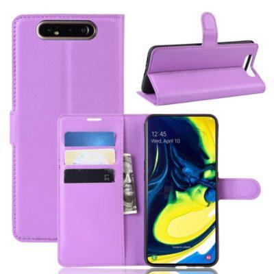 Samsung Galaxy A80 Suojakotelo PU-Nahka Violetti