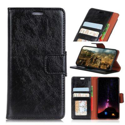 Samsung Galaxy Xcover 4 / 4s Kotelo Musta Nahka