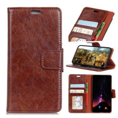 Samsung Galaxy Xcover 4 / 4s Kotelo Ruskea Nahka