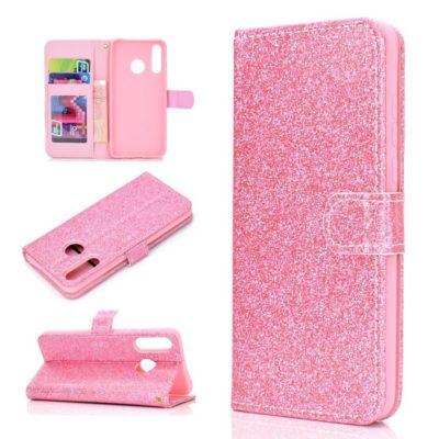 Huawei Honor 20 Lite Suojakotelo Glitter Pinkki
