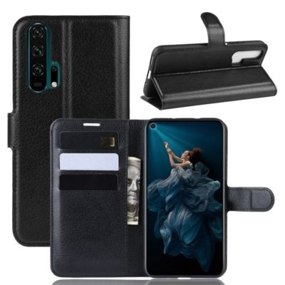 Huawei Honor 20 Pro Kotelo PU-Nahka Musta