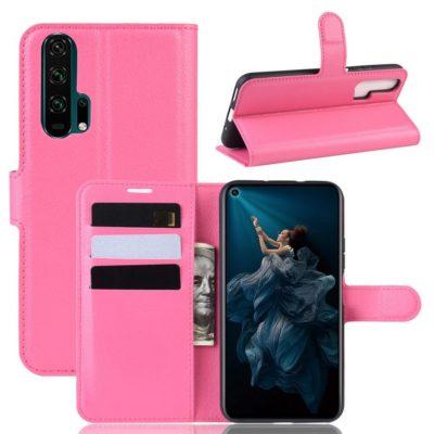 Huawei Honor 20 Pro Kotelo PU-Nahka Pinkki