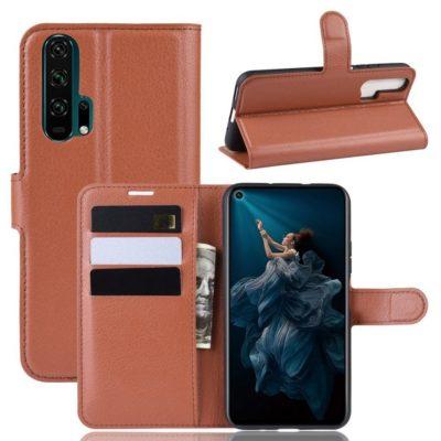 Huawei Honor 20 Pro Kotelo PU-Nahka Ruskea