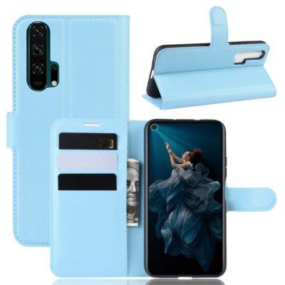 Huawei Honor 20 Pro Kotelo PU-Nahka Vaaleansininen