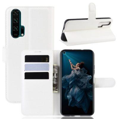 Huawei Honor 20 Pro Kotelo PU-Nahka Valkoinen