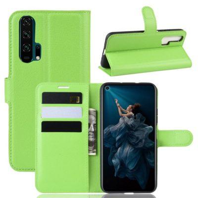 Huawei Honor 20 Pro Kotelo PU-Nahka Vihreä