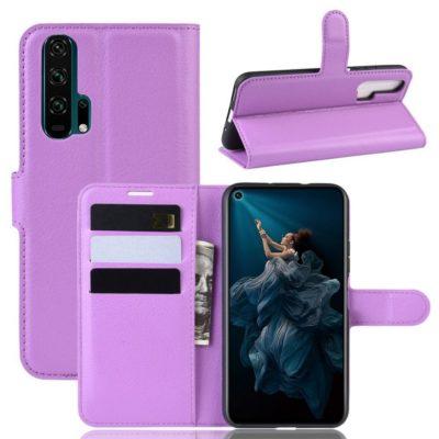 Huawei Honor 20 Pro Kotelo PU-Nahka Violetti