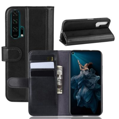 Huawei Honor 20 Pro Suojakotelo Musta Nahka
