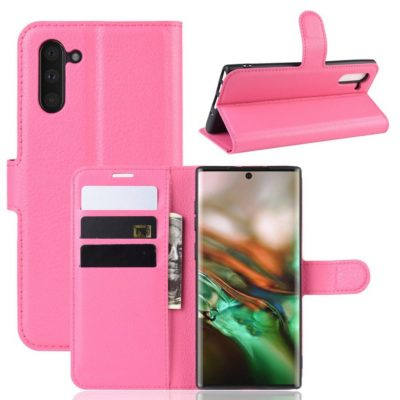 Samsung Galaxy Note 10 Kotelo Pinkki Lompakko