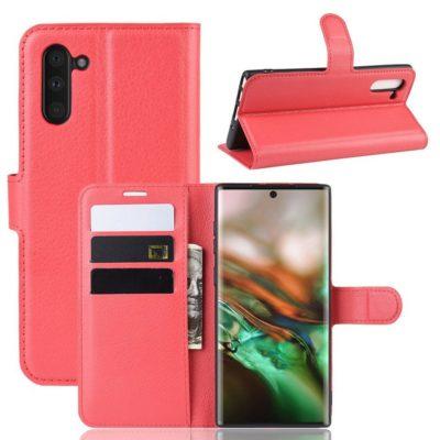 Samsung Galaxy Note 10 Kotelo Punainen Lompakko