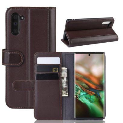 Samsung Galaxy Note 10 Kotelo Ruskea Nahka