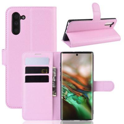 Samsung Galaxy Note 10 Kotelo Vaaleanpunainen Lompakko