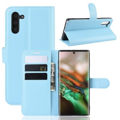Samsung Galaxy Note 10 Kotelo Vaaleansininen Lompakko
