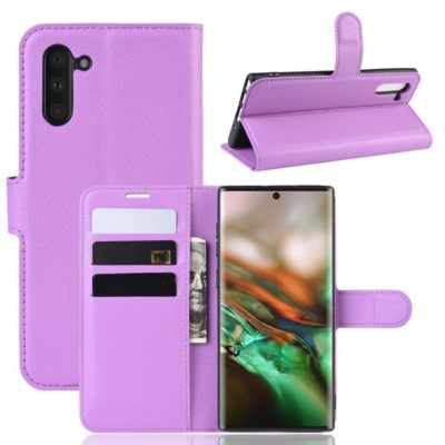 Samsung Galaxy Note 10 Kotelo Violetti Lompakko