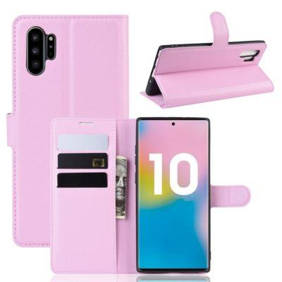 Samsung Galaxy Note 10+ Lompakkokotelo Vaaleanpunainen