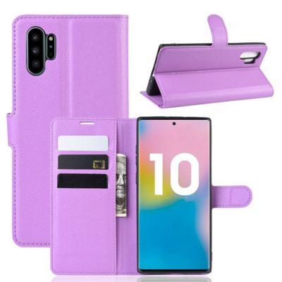 Samsung Galaxy Note 10+ Lompakkokotelo Violetti
