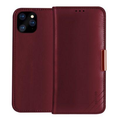 Apple iPhone 11 Nahkakotelo DZGOGO Punainen