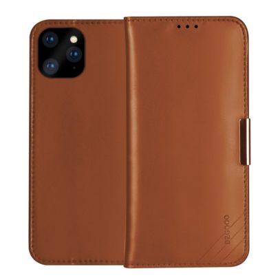 Apple iPhone 11 Nahkakotelo DZGOGO Ruskea