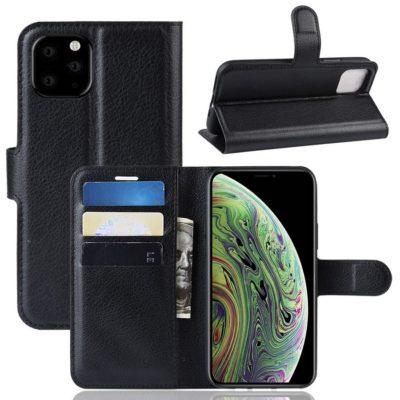 Apple iPhone 11 Pro Lompakko Suojakotelo Musta