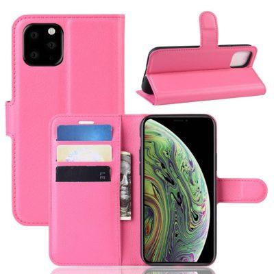 Apple iPhone 11 Pro Lompakko Suojakotelo Pinkki