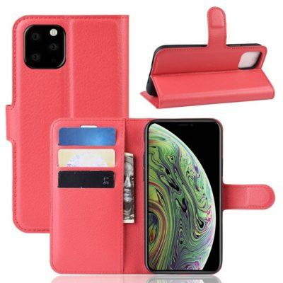 Apple iPhone 11 Pro Lompakko Suojakotelo Punainen