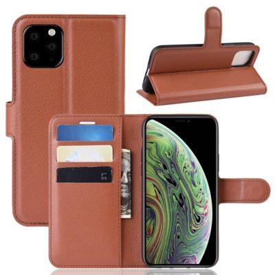Apple iPhone 11 Pro Lompakko Suojakotelo Ruskea