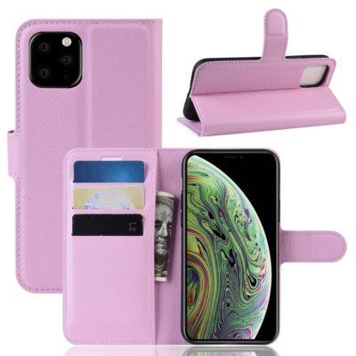 Apple iPhone 11 Pro Lompakko Suojakotelo Vaaleanpunainen