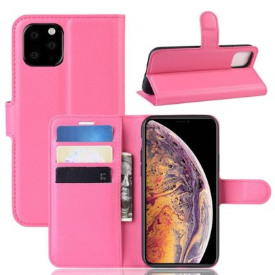 Apple iPhone 11 Pro Max Kotelo PU-Nahka Pinkki