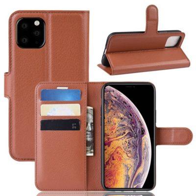 Apple iPhone 11 Pro Max Kotelo PU-Nahka Ruskea