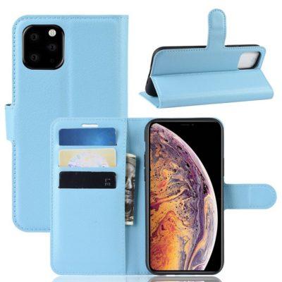 Apple iPhone 11 Pro Max Kotelo PU-Nahka Sininen