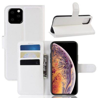 Apple iPhone 11 Pro Max Kotelo PU-Nahka Valkoinen