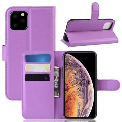 Apple iPhone 11 Pro Max Kotelo PU-Nahka Violetti