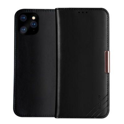 Apple iPhone 11 Pro Nahkakotelo DZGOGO Musta