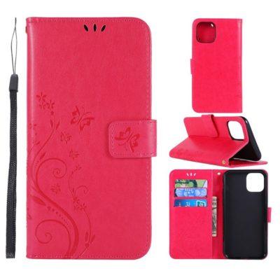 Apple iPhone 11 Pro Suojakotelo Kukka Pinkki