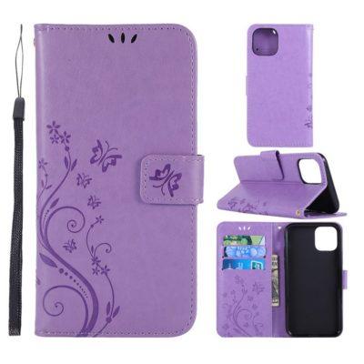 Apple iPhone 11 Pro Suojakotelo Kukka Violetti