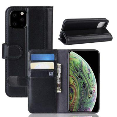 Apple iPhone 11 Pro Suojakotelo Musta Nahka
