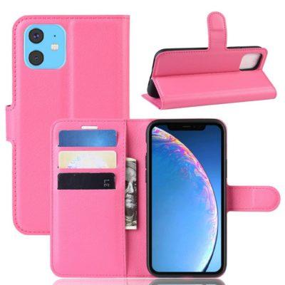 Apple iPhone 11 Suojakotelo PU-Nahka Pinkki